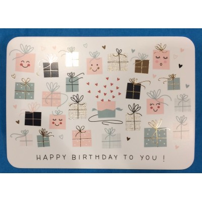 CARTE HAPPY BIRTHDAY TO YOU - CARTES D'ART