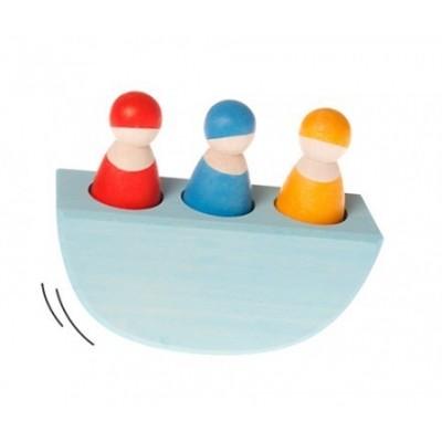 3 amis dans un bateau - coloré GRIMM's