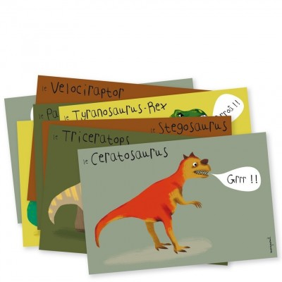 CARTES D'INVITATIONS DINOSAURE