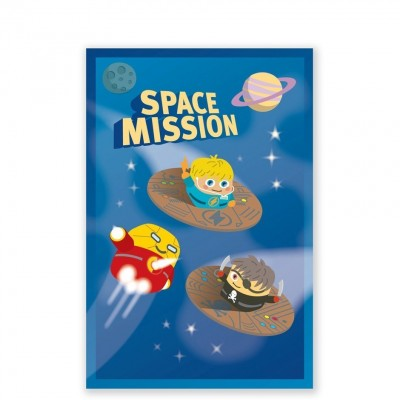 CARTE D INVITATIONS SPACE MISSION (8 CARTES)