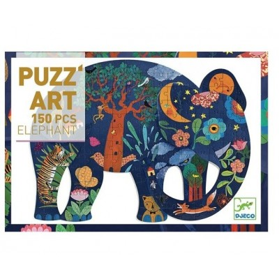 PUZZ'ART - ELEPHANT - 150 PCS - DJECO
