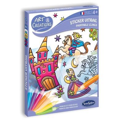 ART ET CREATIONS - STICKERS VITRAIL PETITS PRINCES-...