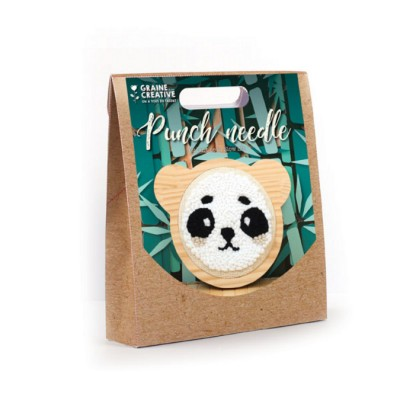 KIT PUNCH NEEDLE PANDA Ø 150 MM - GRAINE CREATIVE