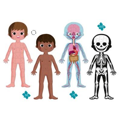 PUZZLE EDUCATIF - CORPS HUMAIN - 50,75,100 PCS - JANOD