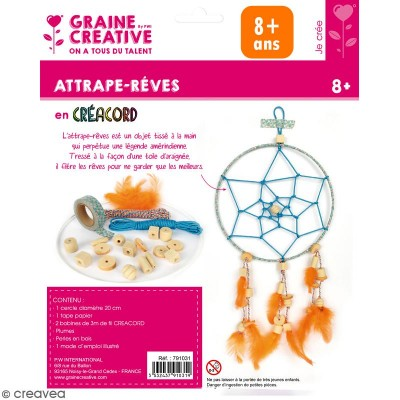 KIT ATTRAPE-REVE CREACORD OCEAN 200 - GRAINE CREATIVE