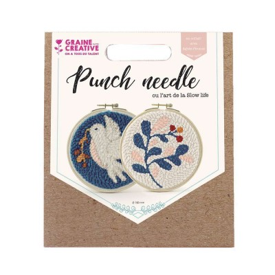 KIT PUNCH NEEDLE DIPTYQUE Ø 150MM - GRAINE CREATIVE