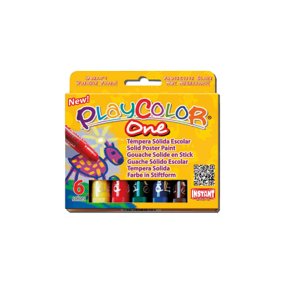 BOITE DE 6 STICKS GOUACHE SOLIDE ONE BASIC - GRAINE CREATIVE
