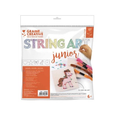 KIT JUNIOR  STING ART THEME NATURE - GRAINE CREATIVE