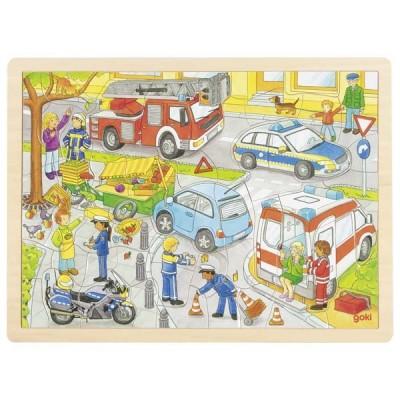 PUZZLE POLICE 56 PCS - GOKI