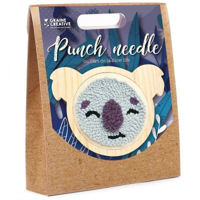 KIT PUNCHE NEEDLE KOALA Ø150MM - GRAINE CREATIVE