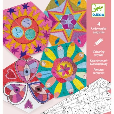 COLORIAGES SURPRISES - MANDALAS CONSTELLATIONS - DJECO