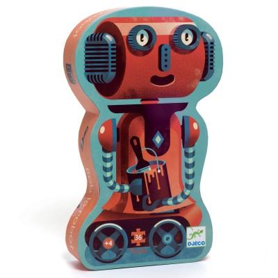 PUZZLE SILHOUETTE BOB LE ROBOT- 36 PCS- DJECO