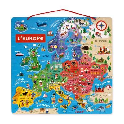 CARTE D'EUROPE MAGNETIQUE - JANOD