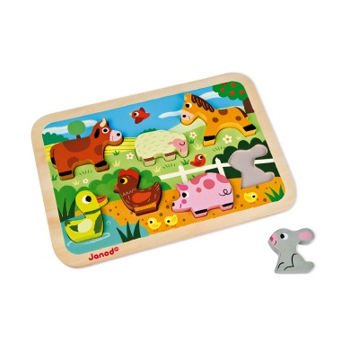 CHUNKY PUZZLE FERME- JANOD