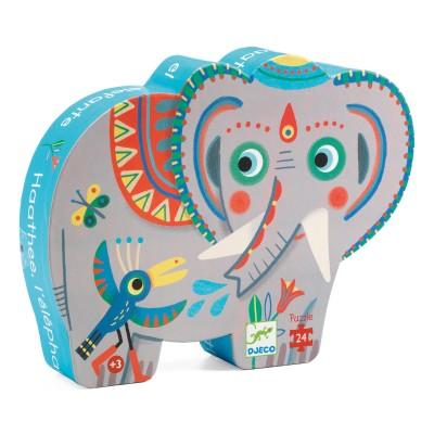 PUZZLE SILHOUETTE L'ELEPHANT HAATHEE - 24 PCS- DJECO