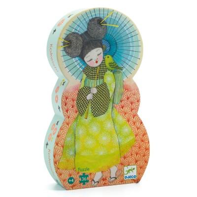 PUZZLE SILHOUETTE KOKEISHI  - 36 PCS - DJECO