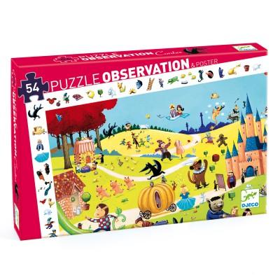 PUZZLE OBSERVATION CONTES - 54 PCS- DJECO