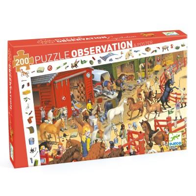 PUZZLE OBSERVATION EQUITATION - 200 PCS - DJECO