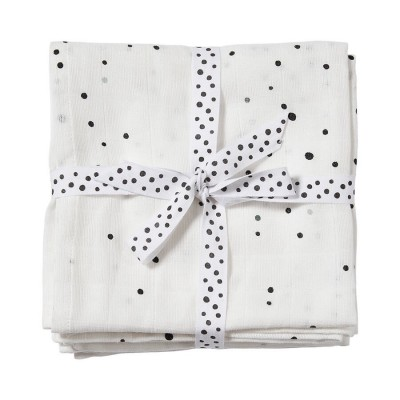 LANGES 70 X2  DREAMY DOTS BLANC - DONE BY DEER