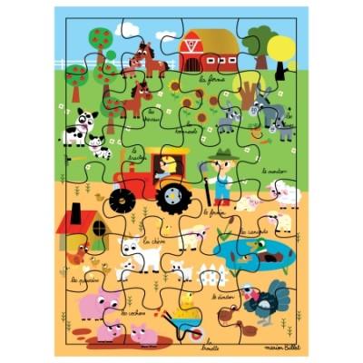 CARTE PUZZLE XL LA FERME- CARTES D'ART