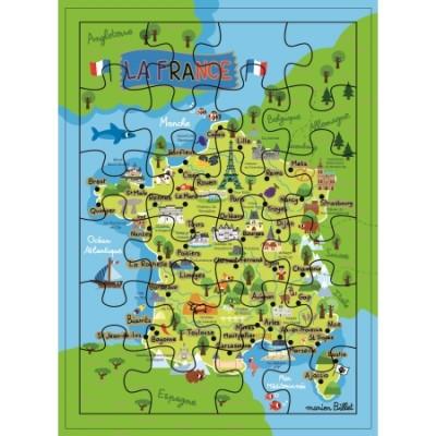 CARTE PUZZLE XL LA FRANCE - CARTES D'ART