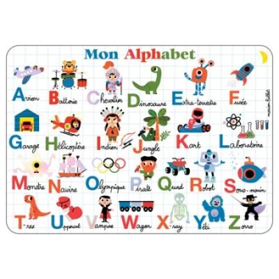 SET DE TABLE ALPHABET - CARTES D'ART