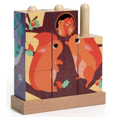 PUZZLES BOIS PUZZ-UP FOREST - DJECO