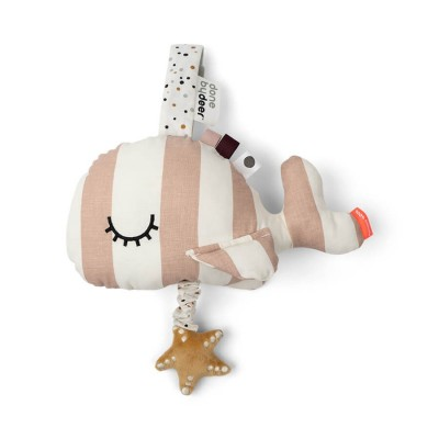 SUSPENSION MUSICALE BALEINE WHALY ROSE -DONE BY DEER