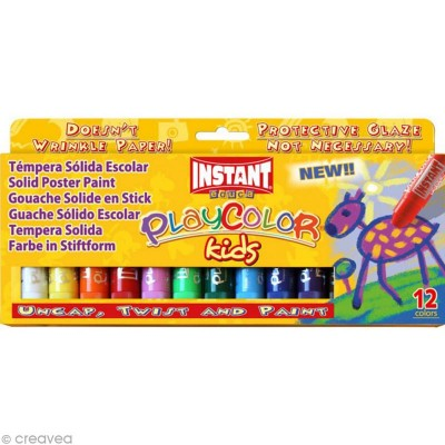 12 GOUACHES SOLIDES PLAYCOLOR - GRAINE CREATIVE