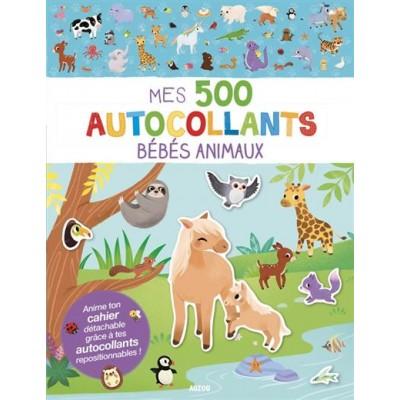 MES 500 AUTOCOLLANTS BÉBÉS ANIMAUX - AUZOU