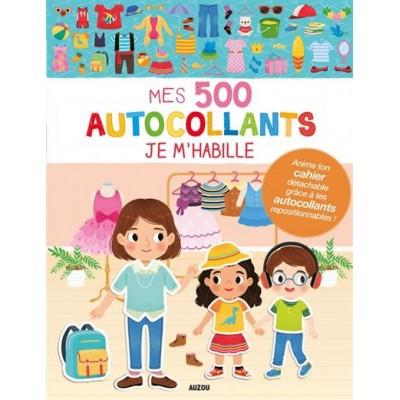 MES 500 AUTOCOLLANTS JE M'HABILLE