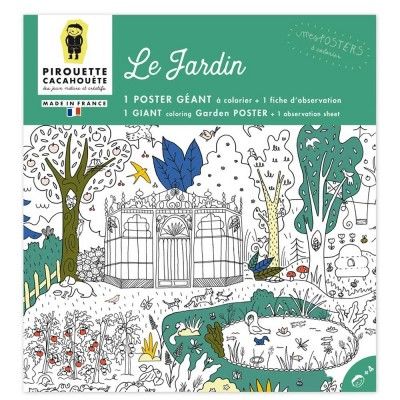 POSTER A COLORIER - JARDIN - PIROUETTE CACAHOUETE