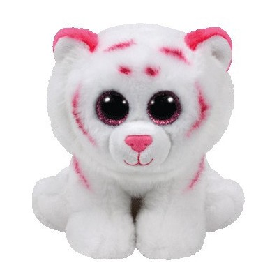 BEANIE BABIES SMALL - TABOR LE TIGRE ROSE/BLANC