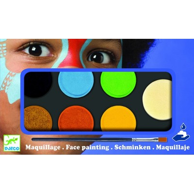 COFFRET MAQUILLAGE - PALETTE 6 COULEURS - NATURE