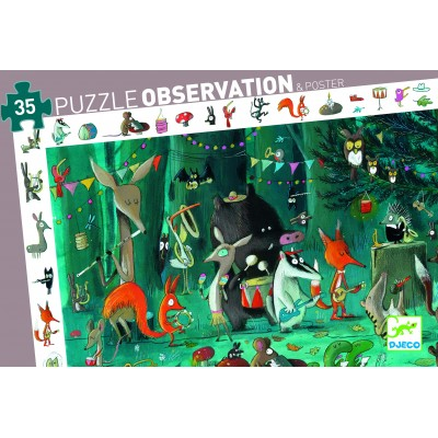 PUZZLE OBSERVATION ORCHESTRE - 35 PCS - DJECO