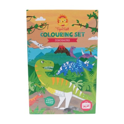 COFFRET COLORIAGE DINOSAURE - TIGER TRIBE