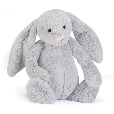 BASHFUL LAPIN ARGENT SILVER REALLY BIG - 67CM