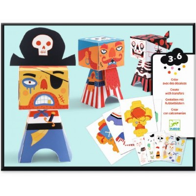 PAPER TOYS - PIRATES DECALQUES - DJECO