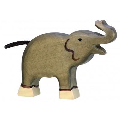ELEPHANT, PETIT, TROMPE HAUTE - Holztiger