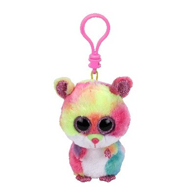 BEANIE BOO'S CLIP - RODNEY LE HAMSTER MULTICORE -TY