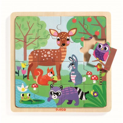 PUZZLE EDUCATIF BOIS FOREST - DJECO
