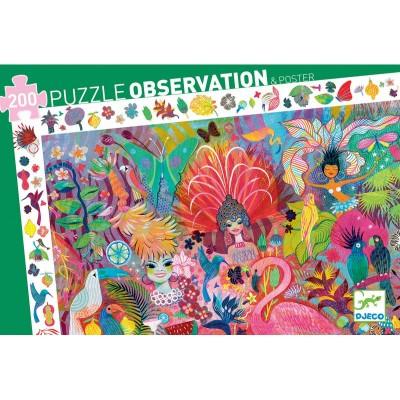 PUZZLE OBSERVATION- CARNAVAL DE RIO - 200 PCS - DJECO