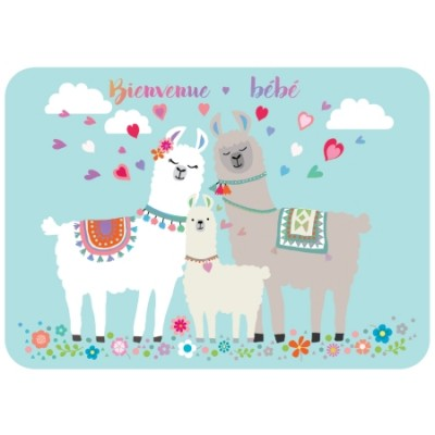 CARTE POSTALE COIN ROND BIENVENUE BEBE - CARTES D'ART