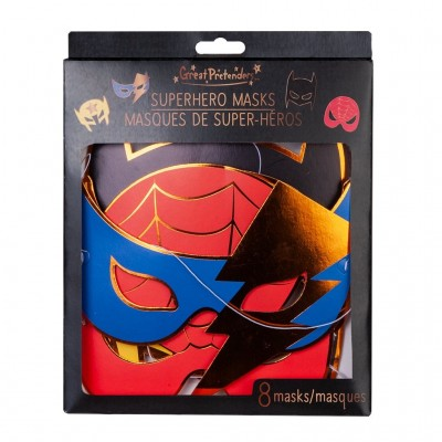 MASQUES - SUPERHERO (8 PCS) - GREAT PRETENDERS