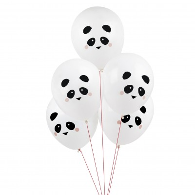 5 BALLONS TATOUES - MINI-PANDA