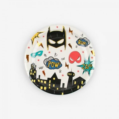 PETITES ASSIETTES SUPERHERO  PAR 8 - GREAT PRETENDERS