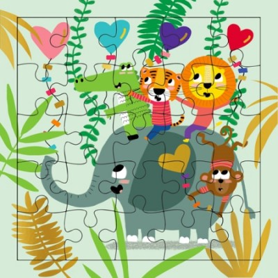 CARTE PUZZLE SAFARI - CARTES D'ART