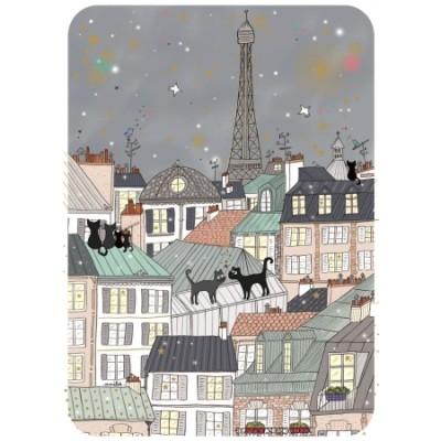 CARTE POSTALE COIN ROND PARIS CHAT - CARTES D'ART
