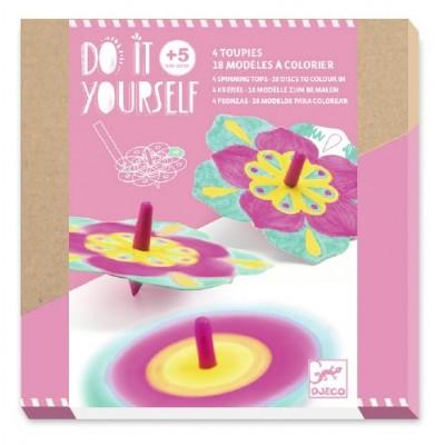 DIY - TOUPIES -FLEURS - DJECO