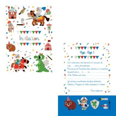 8 CARTES D'INVITATION CHEVALIERS - CARTES D'ART